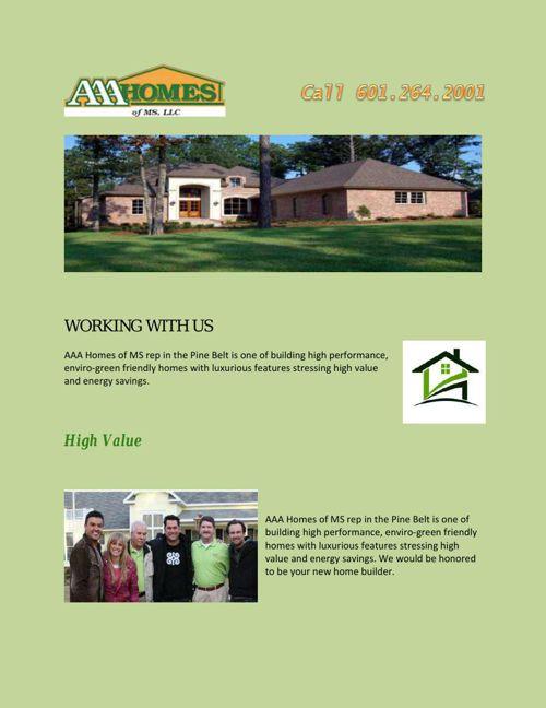 Hattiesburg home builders