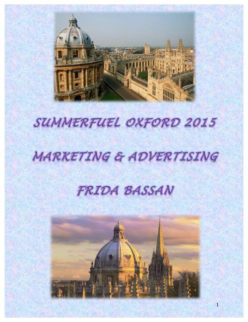 Summerfuel Oxford Marketing