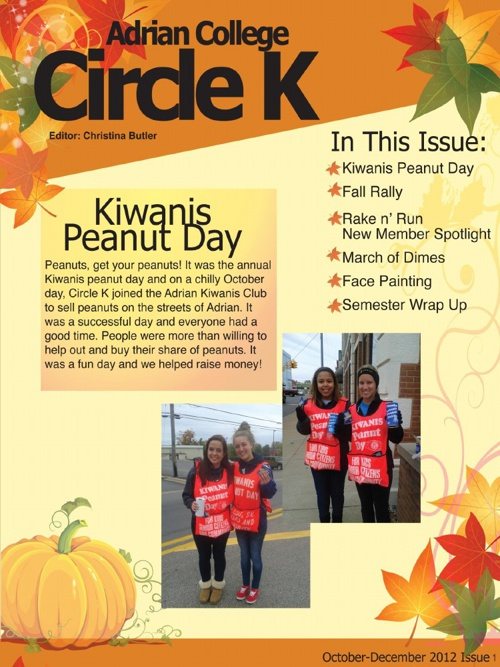 Circle K Bulletin October to December
