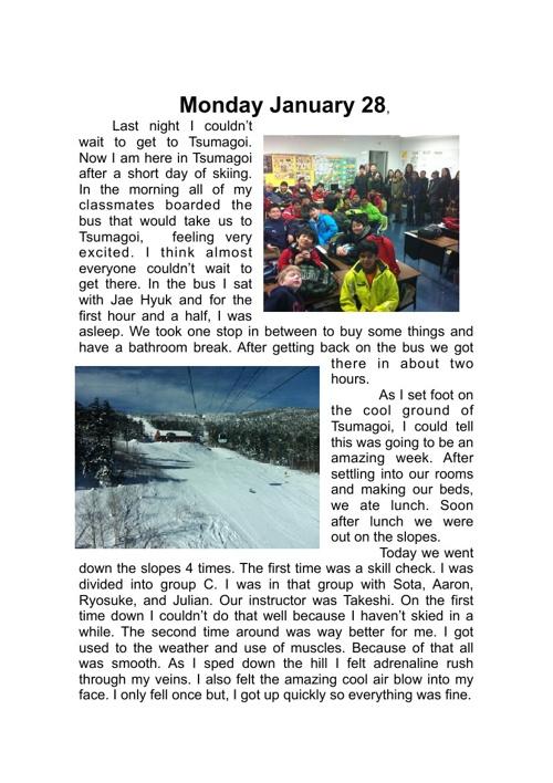 Naoki's Ski Journal