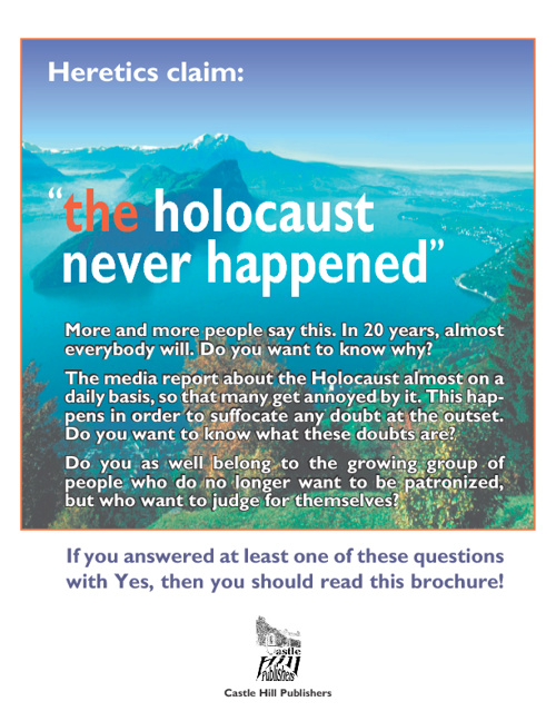 Heretics claim: the holocaust never happened