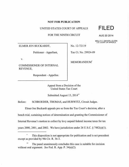 Buckardt v. Commissioner of Internal Revenue (00206818)