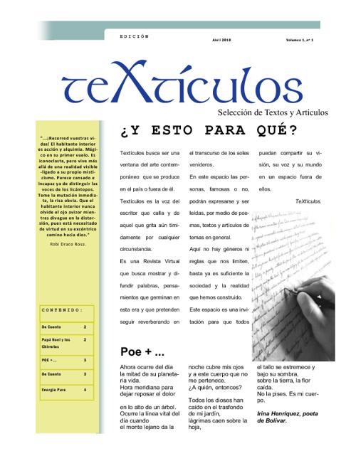 Revista teXtículos