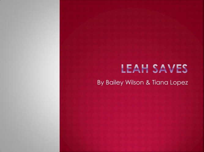 Leah Saves