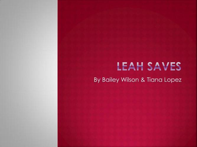 Leah Saves