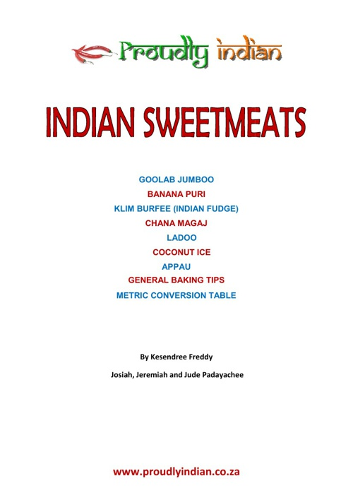 Indian Sweetmeat Recipes