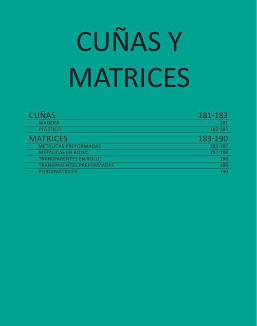 CUÑAS Y MATRICES - CAT. GRAL. 2015 CASA SCHMIDT