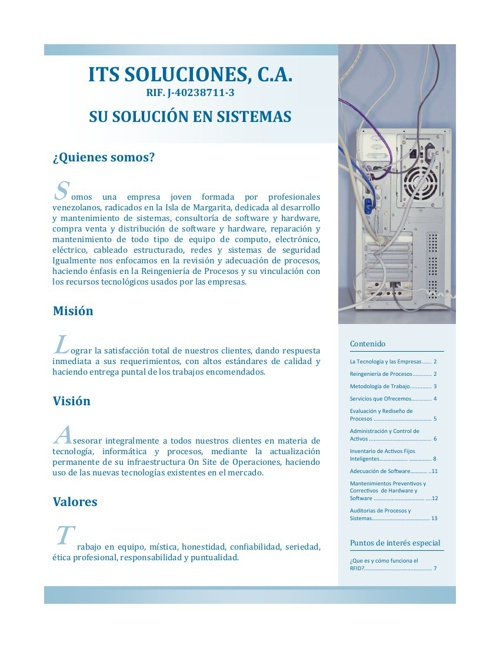 Boletín ITS Soluciones, C.A.