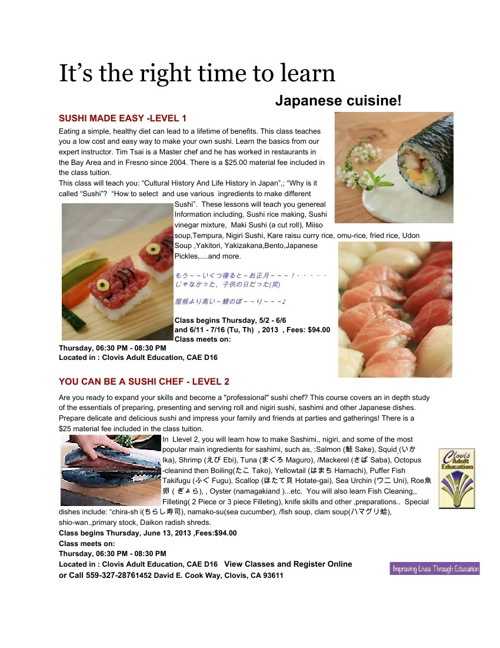 Copy of Tim's Sushi Class