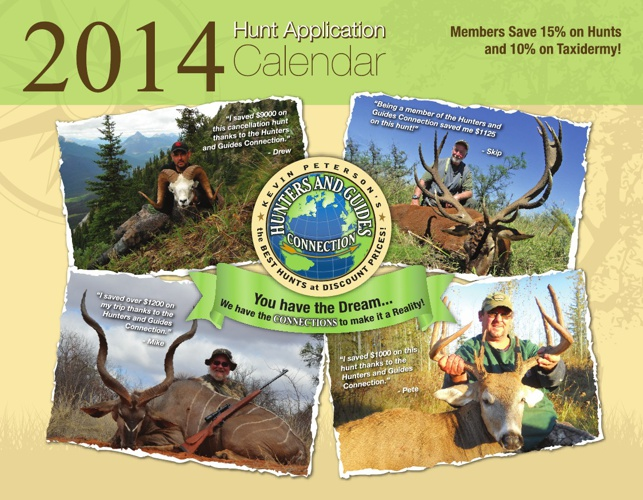 2014 Hunt Application Calendar