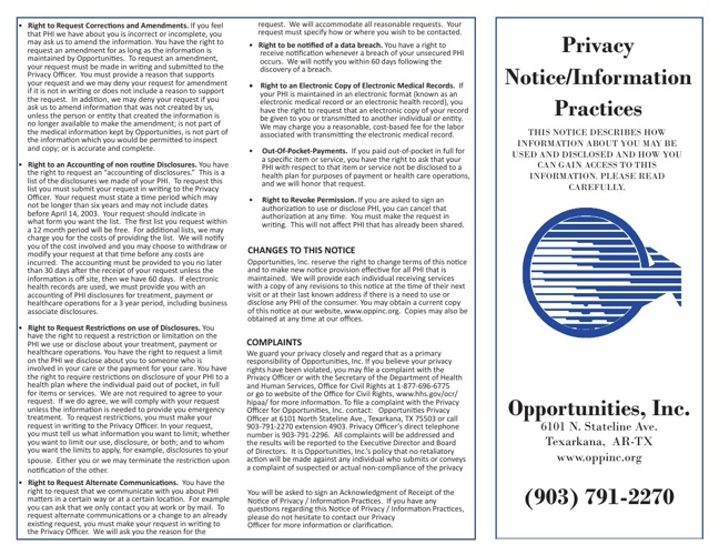 Privacy Notice/Information Practices