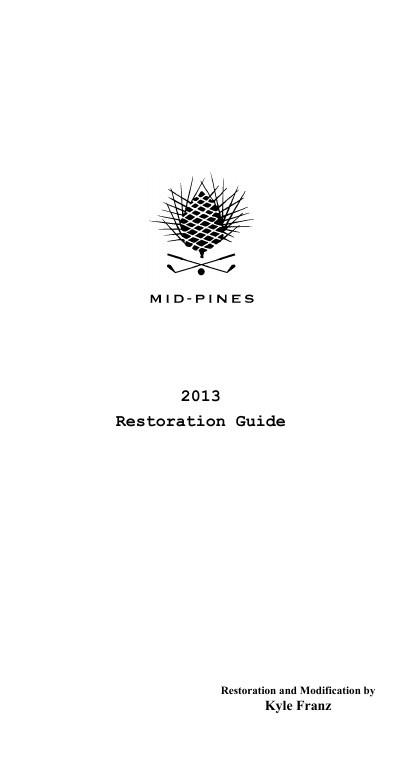 Restoration Guide 2013-