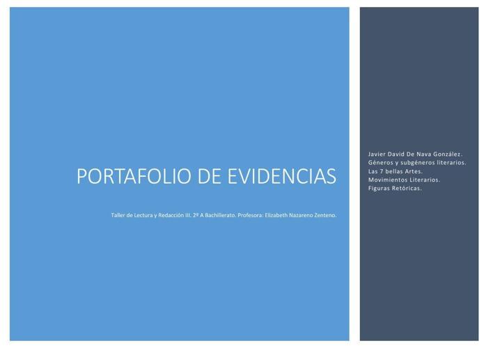 Portafolio de Evidencias Taller De Lectura y Redacción III