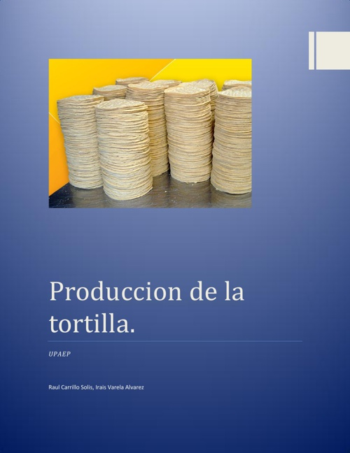 Copy of Producción de tortillas