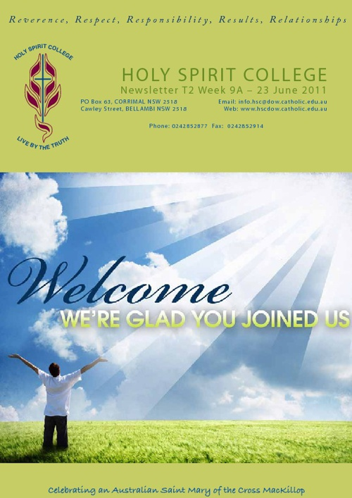 Holy Spirit College Newsletter Term 2 Week 9A
