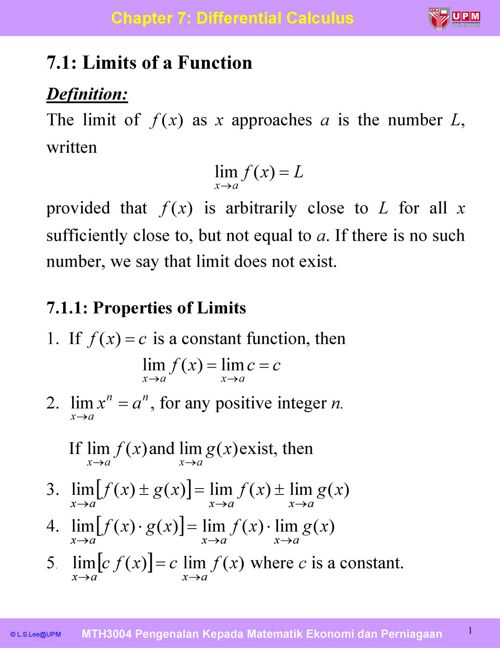 Cp7_Differential Calculus
