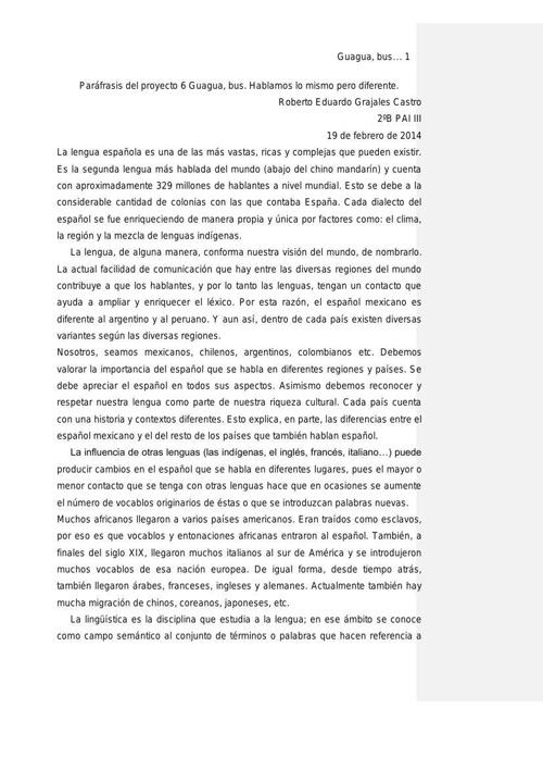 Roberto Grajales 2ºB Texto expositivo Final