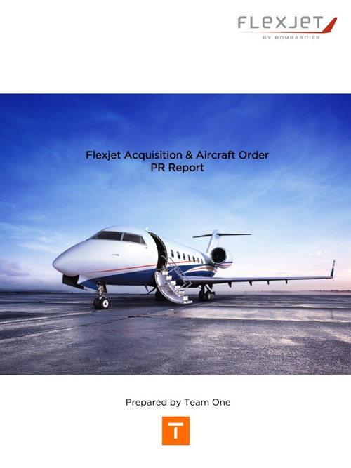 Flexjet Acquisition & Aircraft Order PR Report