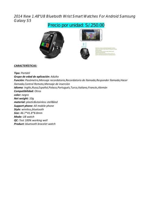 Catálogo de productos 1.1 Español