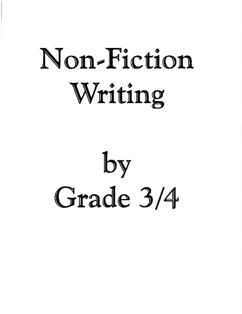 It's a Fact! (Non-fiction Writing)