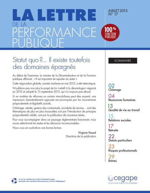 Lettre de la Performance Pubique n°17