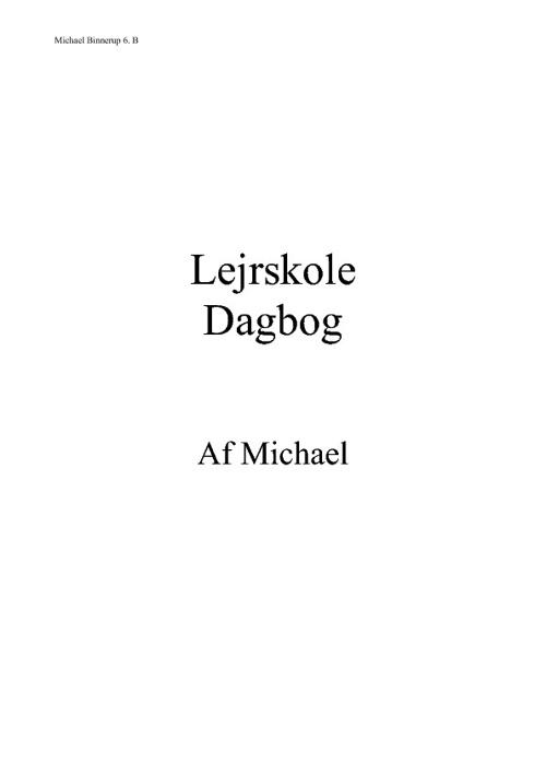 renbjerg dagbog