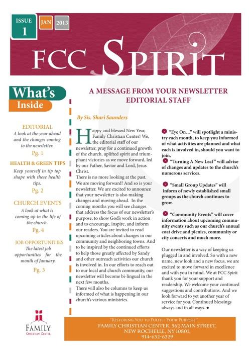 FCC Spirit- Issue 1, Jan 2013