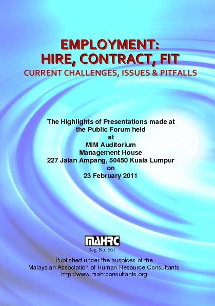 MAHRC Public Forum (Booklet)