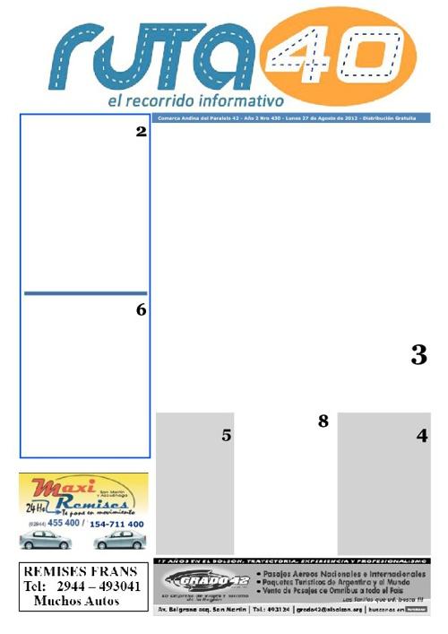 Edición impresa Lunes 27 de agosto de 2012