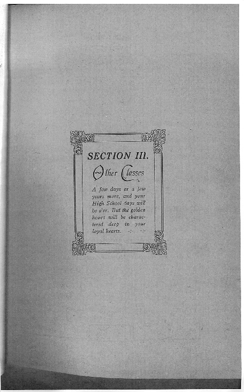 OHS 1916 Yearbook - Other Classes