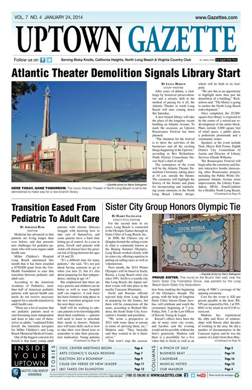 Uptown Gazette  |  January 24, 2014