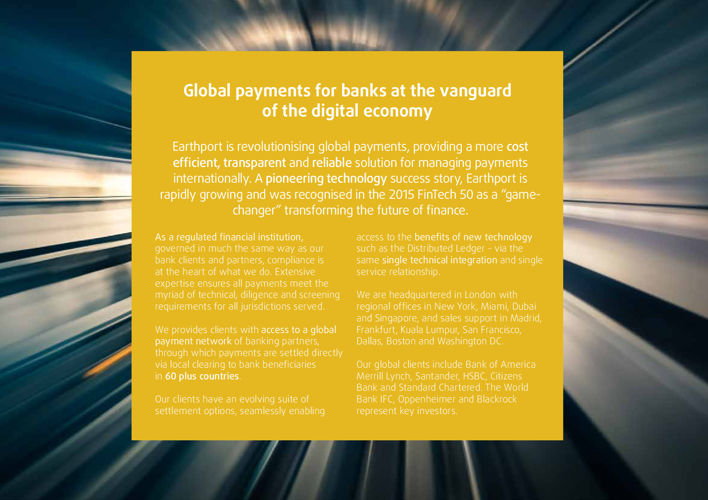 Earthport For Banks Overview