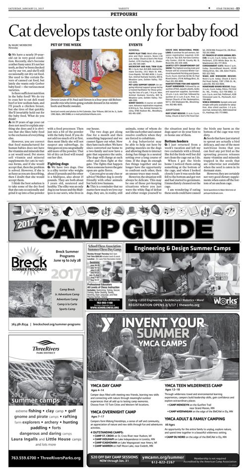 Star Tribune Camp Guide - January 2017