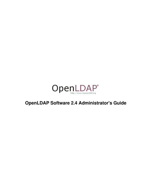 Openldap Admin Guilde