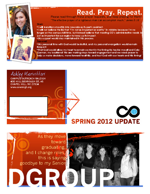 Spring 2012 Update from Ashley Marv