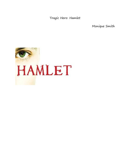 Shakespeare Tragic Hero: Hamlet