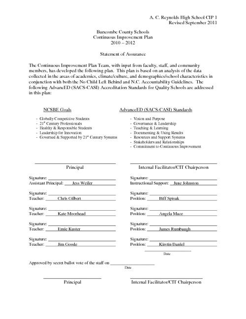 ACRHS CIP 2011-12