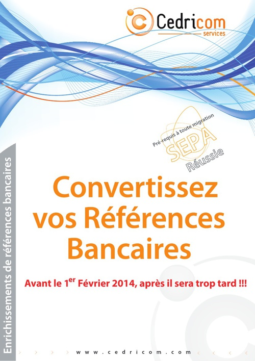 Plaquette commerciale de conversion RIB vers IBAN