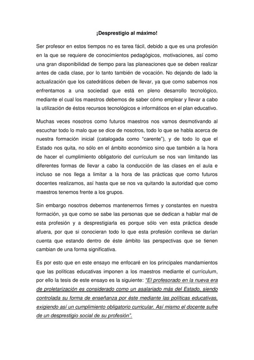 ENSAYO PSICOLOGIA
