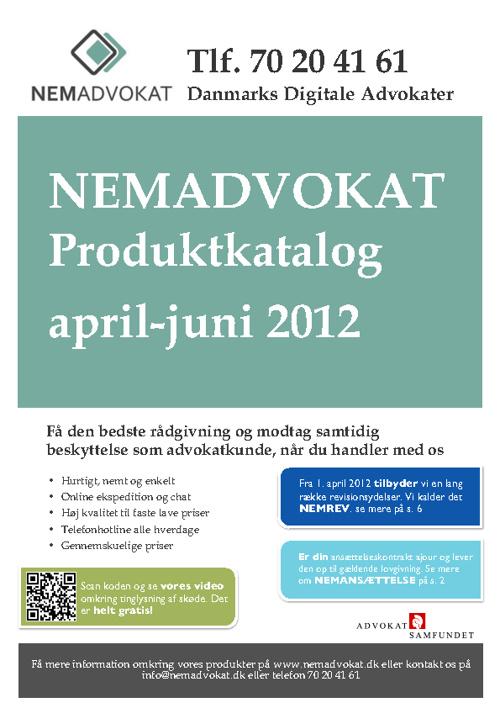 NEMADVOKAT Produktkatalog 2012