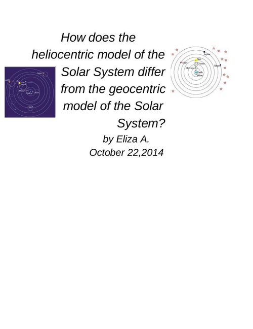 Ptolemy vs Copernicus - Google Docs