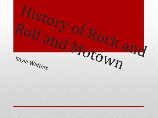 History Rock and Roll and Motown