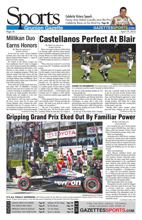 Gazette Sports | April 19, 2012