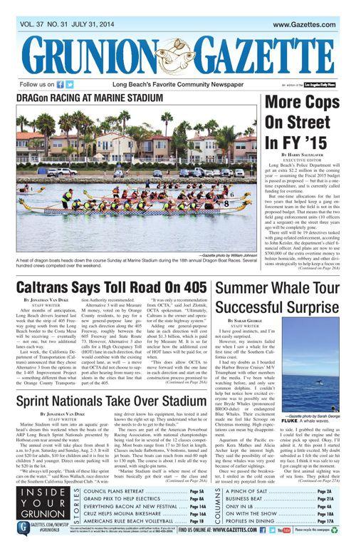 Grunion Gazette | July 31, 2014