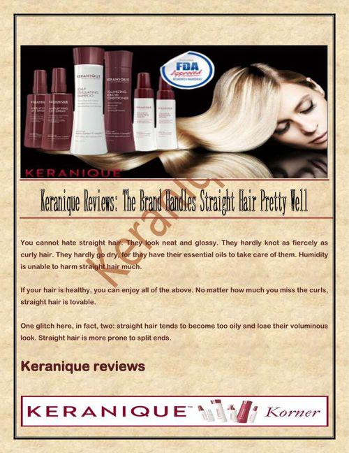 Keranique Reviews: The Brand Handles Straight Hair Pretty Well