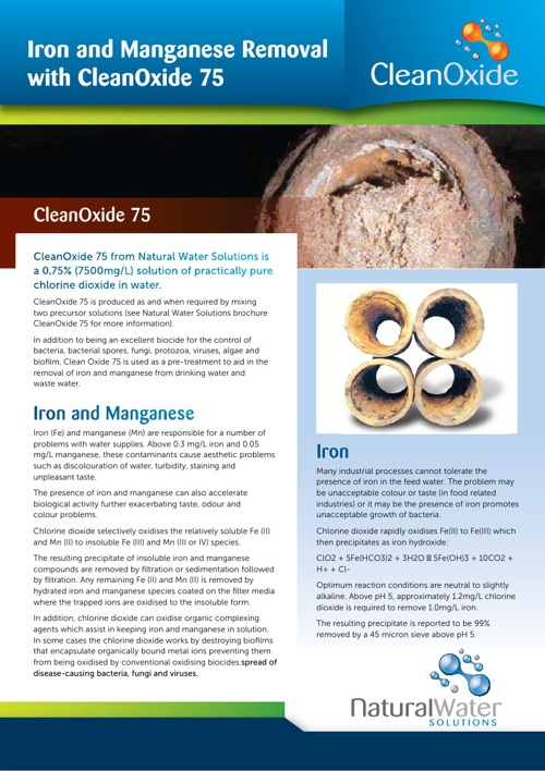 Control of iron and manganese
