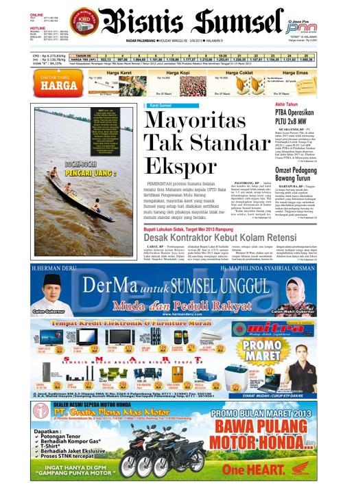 Radar Palembang Edisi 16-03-2013 Koran
