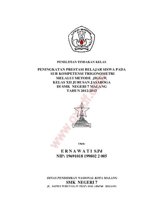 PTK TRIGONOMETRI JIGSAW BY ERNAWATI SMKN 7 MALANG