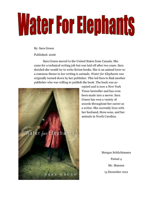 Water For Elephants - Great Depression Project