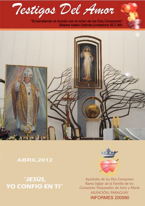 Revista TESTIGOS DEL AMOR - Abril 2012